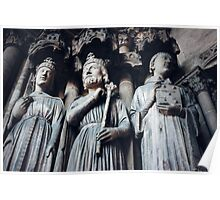 Gothic Background with Ancient Kings  Poster