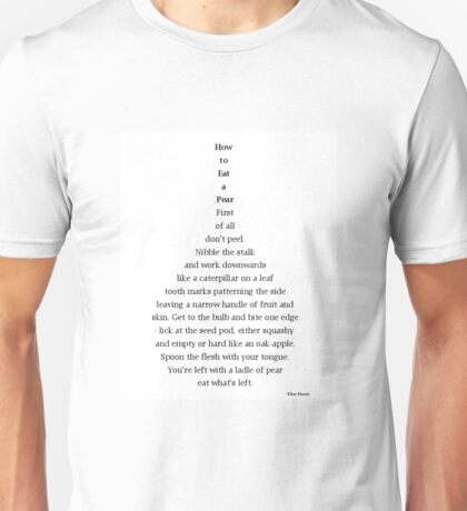 How to Eat a Pear Unisex T-Shirt