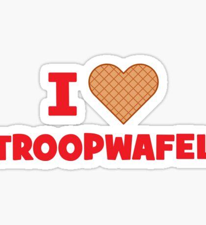 I Love Stroopwafels Sticker