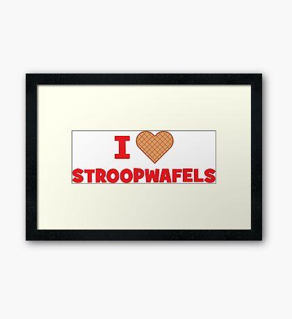 I Love Stroopwafels Framed Print