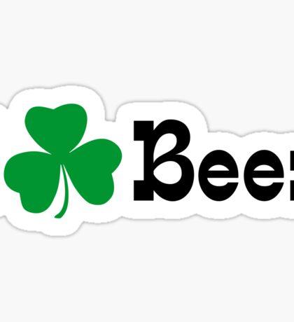 I Shamrock Beer Sticker