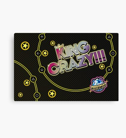 KING CRAZY!! Persona 4 - Dancing all Night Canvas Print