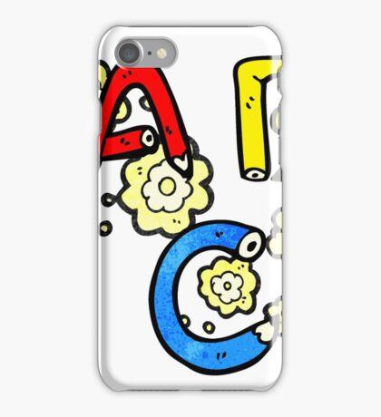 cartoon ABC letters iPhone Case/Skin
