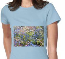 Myosotis flowering in spring Womens Fitted T-Shirt