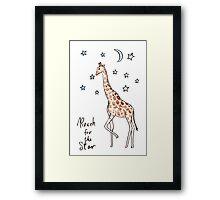 Reach for the sar Giraffe Framed Print