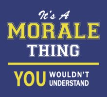 It's A MORALE thing, you wouldn't understand !! by satro