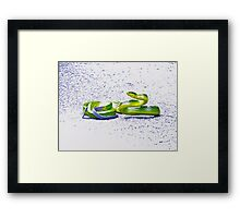 WHIPPED INTO ACTION! Framed Print