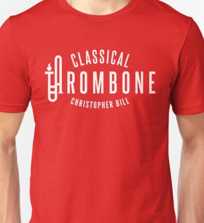 Classical Trombone Full White Logo Unisex T-Shirt