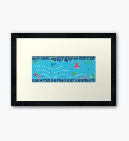 The Ocean World Framed Print