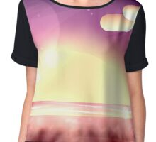 Let's watch the sunset on the beach Chiffon Top