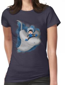 Stingray and boy Womens Fitted T-Shirt