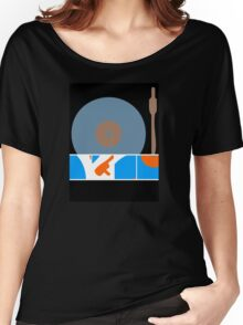 Peace Turntable Vinyl Record Women's Relaxed Fit T-Shirt