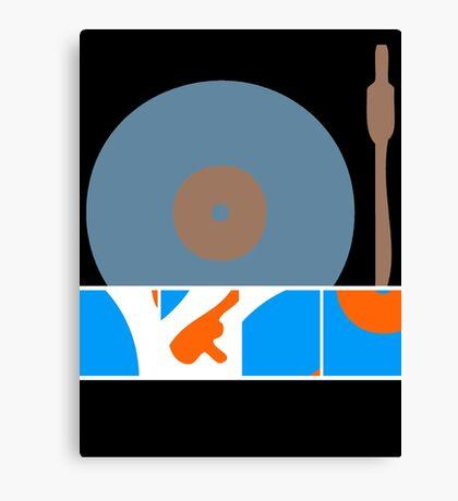 Peace Turntable Vinyl Record Canvas Print