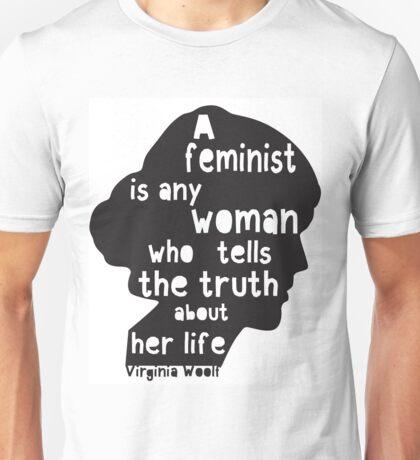 Virginia Woolf Feminist Quote!  Unisex T-Shirt