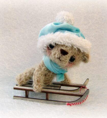 Teddy Bear Orphans 'Crispin' Christmas Snow Bear Xmas Sticker