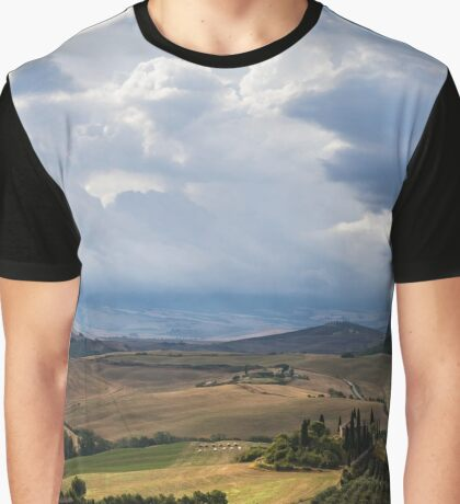 Typical farmhouse in San Quirico d'Orcia in Italy Graphic T-Shirt