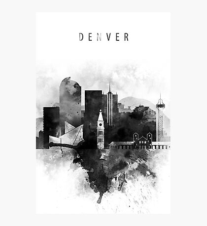 Denver black and white Photographic Print