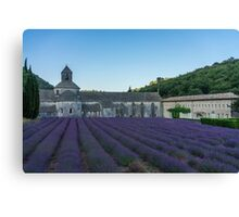 Lavender field near the monastery just before sunrise Canvas Print