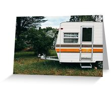 Vintage Trailer Old and Loved Greeting Card