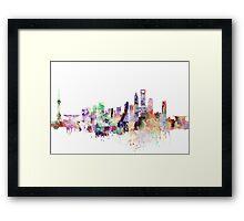 Shan Hai skyline, watercolor Framed Print