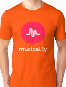 musical.ly 2  T-Shirt (Black - Fitted Cut) Unisex T-Shirt