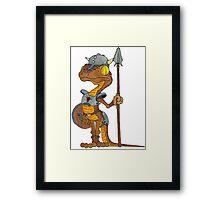 Lizard Warrior Framed Print