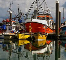 Calm waters, Newlyn harbour by Mortimer123