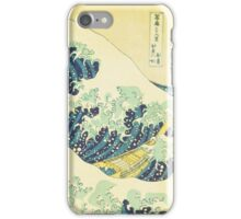The Great Wave off Kanagawa (detail) iPhone Case/Skin