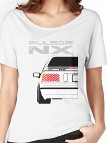 Nissan NX Pulsar Coupe - White Women's Relaxed Fit T-Shirt