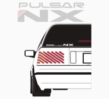 Nissan NX Pulsar Sportback - White One Piece - Short Sleeve
