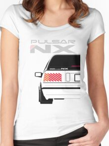 Nissan NX Pulsar Sportback - White Women's Fitted Scoop T-Shirt