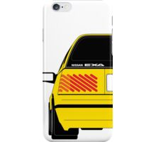 Nissan Exa Sportback - Yellow iPhone Case/Skin