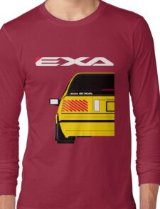 Nissan Exa Sportback - Yellow Long Sleeve T-Shirt