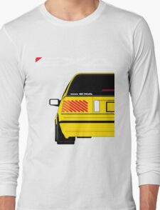 Nissan Exa Sportback - Yellow Long Sleeve T-Shirt