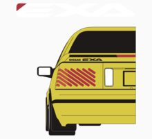 Nissan Exa Coupe - Yellow Kids Tee