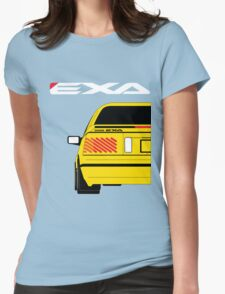 Nissan Exa Coupe - Yellow Womens Fitted T-Shirt