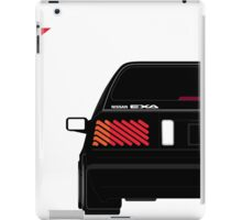 Nissan Exa Sportback - Black iPad Case/Skin