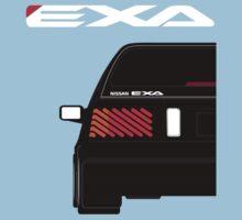 Nissan Exa Sportback - Black One Piece - Short Sleeve
