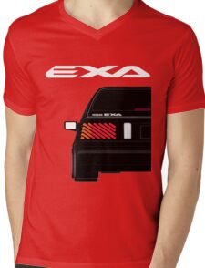 Nissan Exa Sportback - Black Mens V-Neck T-Shirt