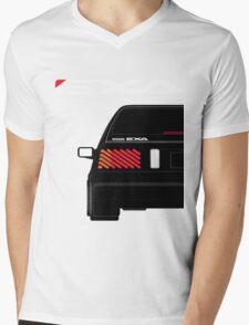 Nissan Exa Sportback - Black Mens V-Neck T-Shirt