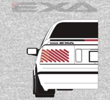 Nissan Exa Coupe - White One Piece - Long Sleeve
