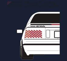 Nissan Exa Coupe - White One Piece - Short Sleeve