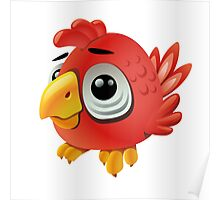 Cute funny cartoon rooster Poster