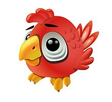 Cute funny cartoon rooster Photographic Print