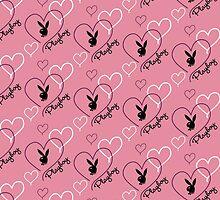 Pink Playboy Logo (w/Hearts) by Russ Jericho