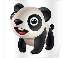 Cute cartoon panda bear Poster