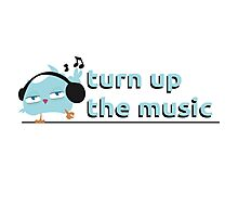 Turn up the music Photographic Print