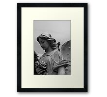 Angel and Cross Framed Print
