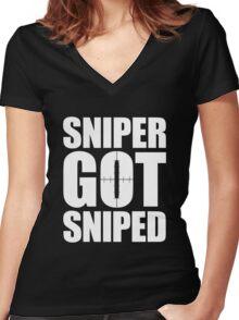 Sniper Got Sniped Women's Fitted V-Neck T-Shirt