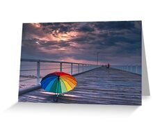 Rainy Jetty Greeting Card
